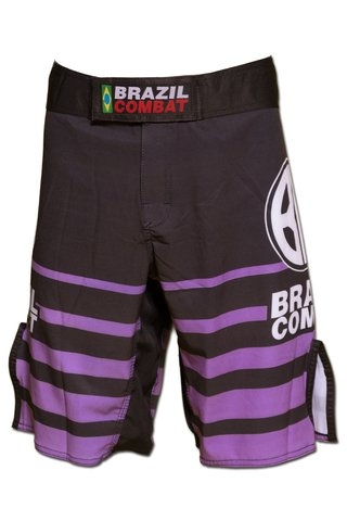 Grappling Short Shield IBJJF Preto e Roxa - comprar online