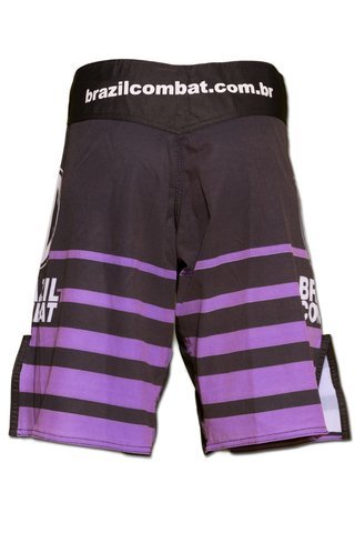 Grappling Short Shield IBJJF Preto e Roxa - Brazil Combat