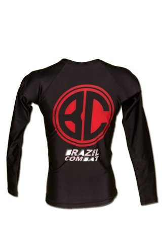 Rash Guard Red Shield ML Preta