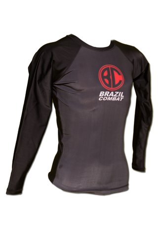 Rash Guard Red Shield ML Preta - Brazil Combat