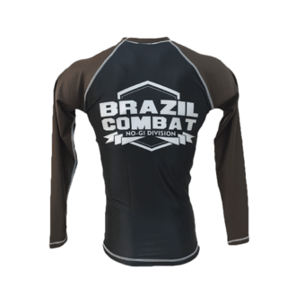 Rash Guard Brazil Combat Marrom Manga Longa na internet