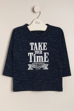 Remera estampada Take your time  Articulo: E34142592