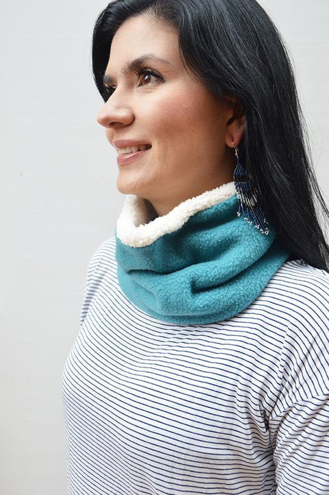 Thermal neck warmer double-sided texture and plush-La casa jaguar - buy online