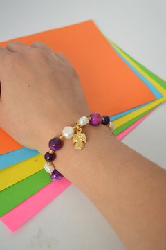 Bracelet Agate medium Angel - Larisa Accesorios