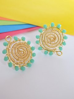 Earrings  turquoise spiral - Carolina Zavala - buy online
