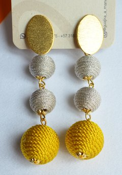 Earrings  light spheres - Guajira a mano