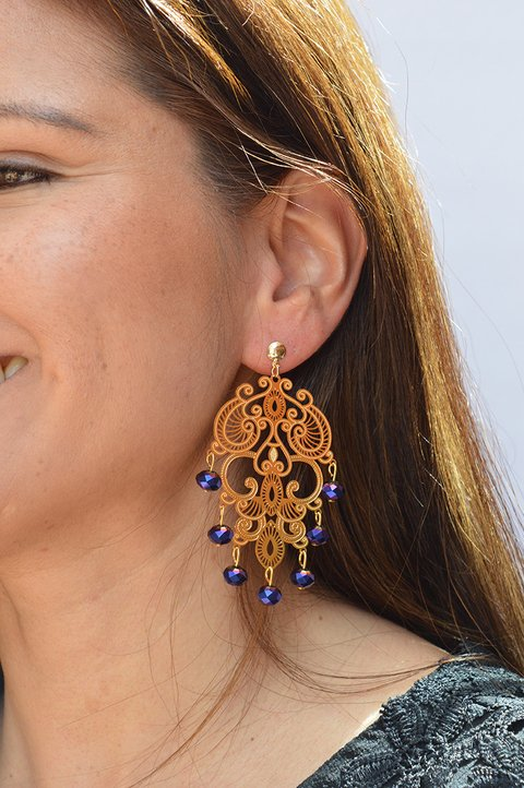 Earrings BIg stones-Remembranza