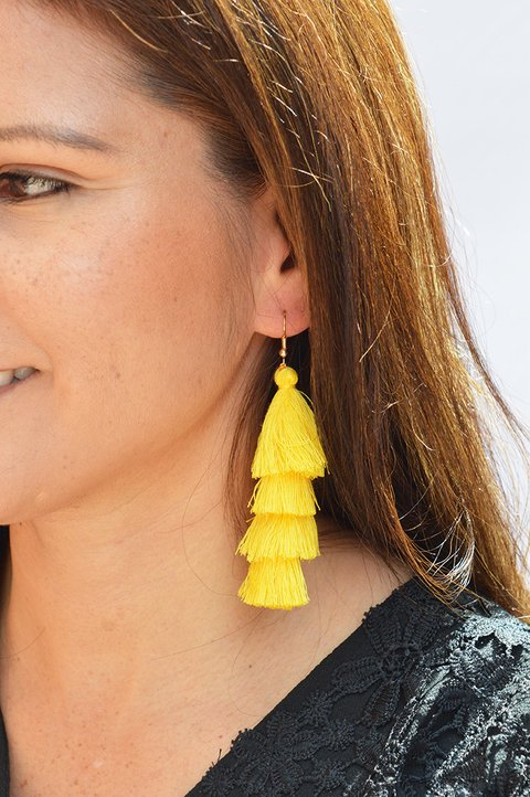 Earrings Tassels waterfall-Carol Sterling