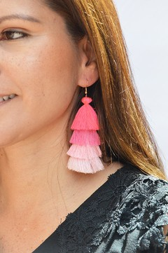 Earrings Tassels waterfall degrade-Remembranza