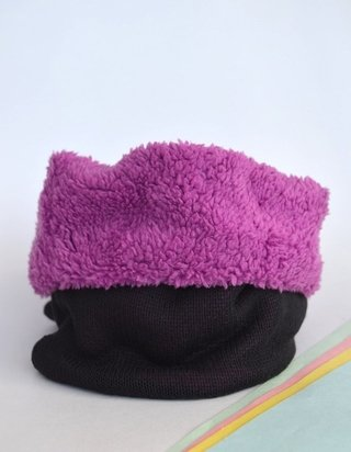 Image of Neck Thermal warmer double-sided knitting and plush-La Casa Jaguar