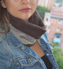 Thermal neck warmer double-sided texture and plush-La casa jaguar - Currucutú|Accesorios latinoamericanos hechos a mano