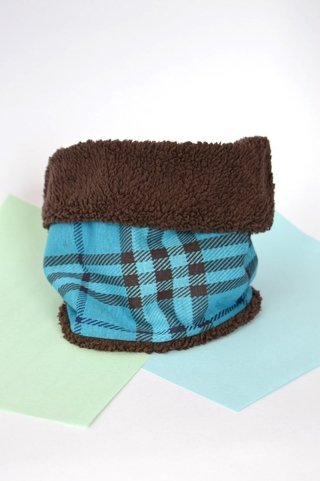 Thermal neck warmer double-sided plaid and plush-La casa jaguar - online store