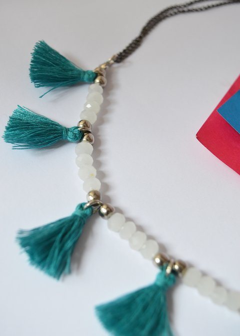 Collar Blue tassels - Carolina Zavala