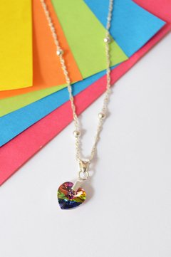 Necklace Heart shining  - Carolina Zavala - Currucutú|Accesorios latinoamericanos hechos a mano