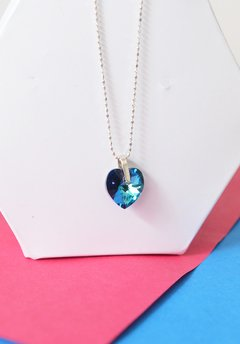 Collar Blue heart - Carolina Zavala en internet