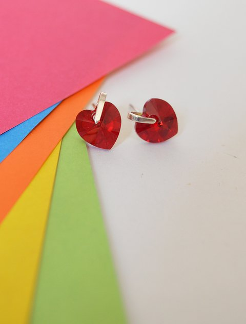Earrings Red heart - Carolina Zavala - buy online