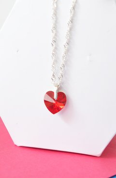 Necklace Red heart - Carolina Zavala