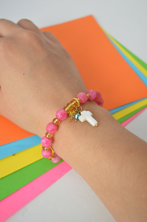 Bracelet Agate medium Cross  - Larisa Accesorios
