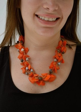 Necklace/Earrings Sunset by the ocean Handmade-Artesano Currucutú on internet