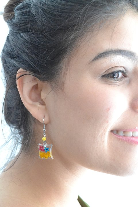 Earrings Square - Floresse - buy online