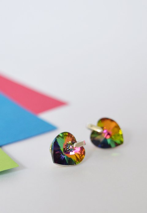 Earrings Multicolor heart - Carolina Zavala - buy online