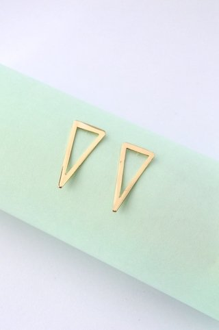Earrings Triangle-Donella - Currucutú|Accesorios latinoamericanos hechos a mano