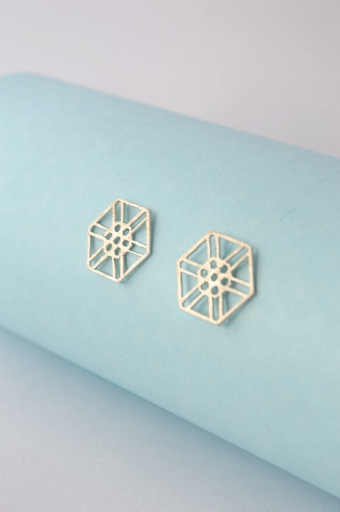Earrings Hexagon-Donella on internet