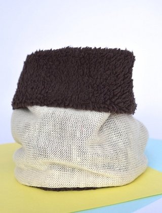 Neck Thermal warmer double-sided knitting and plush-La Casa Jaguar - online store