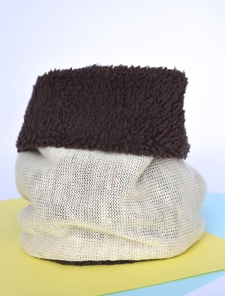 Neck Thermal warmer double-sided knitting and plush-La Casa Jaguar - Currucutú|Accesorios latinoamericanos hechos a mano