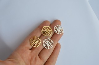 Earrings Hexagon-Donella - Currucutú|Accesorios latinoamericanos hechos a mano
