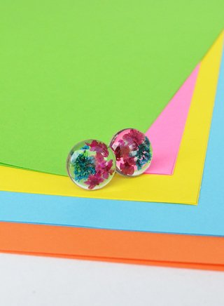 Stud earrings Blossom Medium Circles-Floresse - buy online