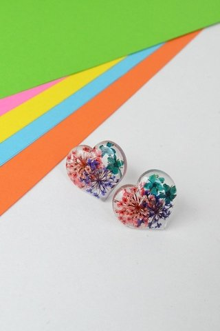 Image of Stud earrings Great Heart-Floresse