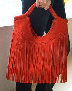 Leather Handbag Red Boho-Pagamento - buy online