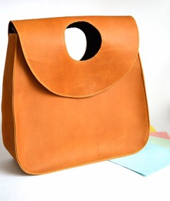 Leather Handbag Honey brown Metalika-Pagamento