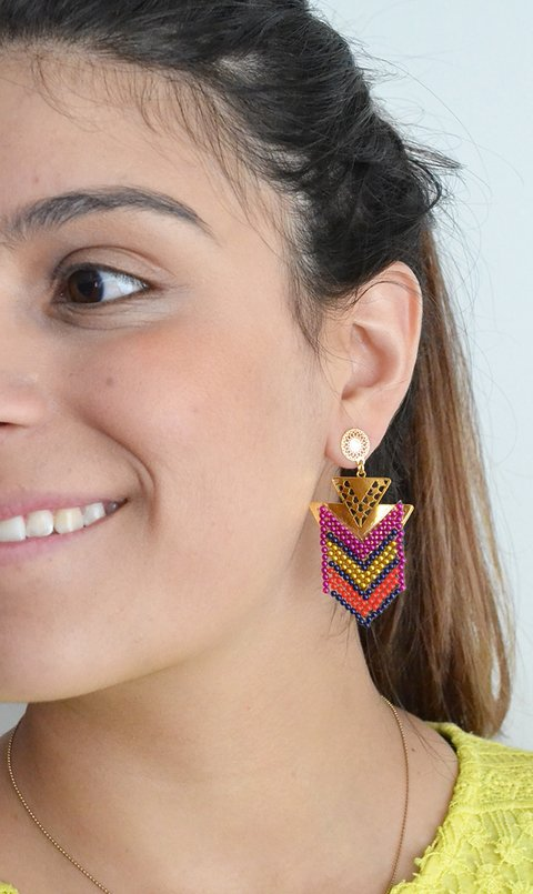 Earrings chaquiras short-Carol Sterling