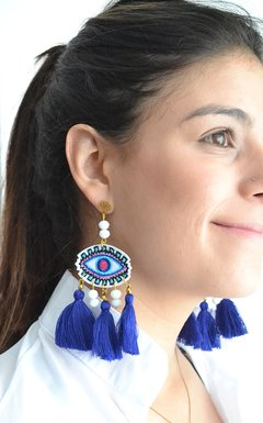 Earrings Embroidery-Remembranza