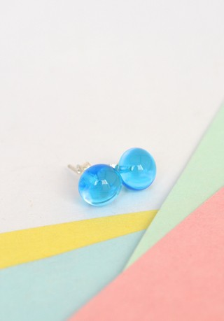 Earrings Maxi glass drops-Efecto Glass Jewelry on internet