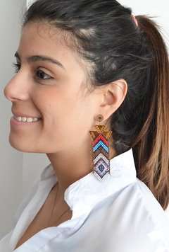 Earrings chaquiras long-Carol Sterling