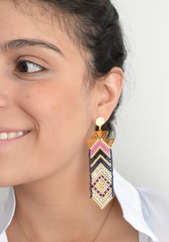 Earrings chaquiras long-Remembranza