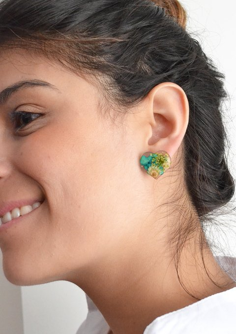 Stud earrings Great Heart-Floresse