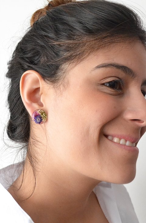 Stud earrings Big Circles-Floresse