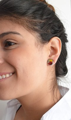 Stud earrings Bloom Circles-Floresse