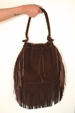Leather Handbag Brown Pacha-Pagamento