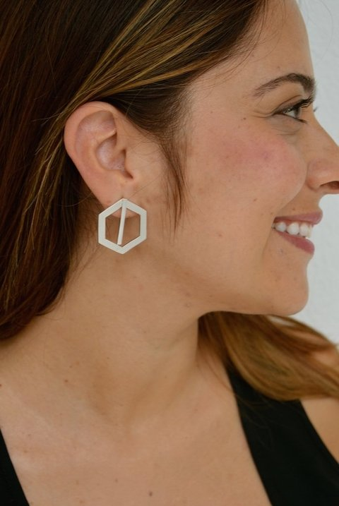 Earrings Double hexagon-Donella