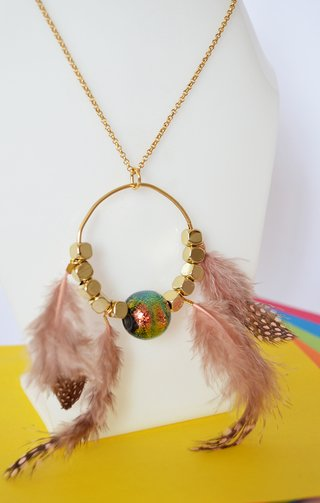 Necklace Golden dreams - Efecto Glass jewelry - buy online