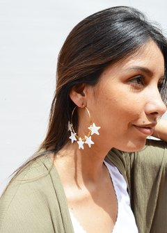 Earrings  Circle Stars - Remembranza