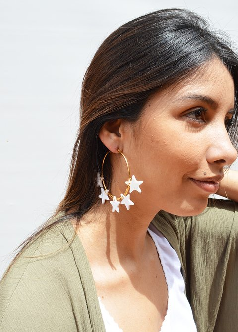 Pendientes Circle Stars - Remembranza