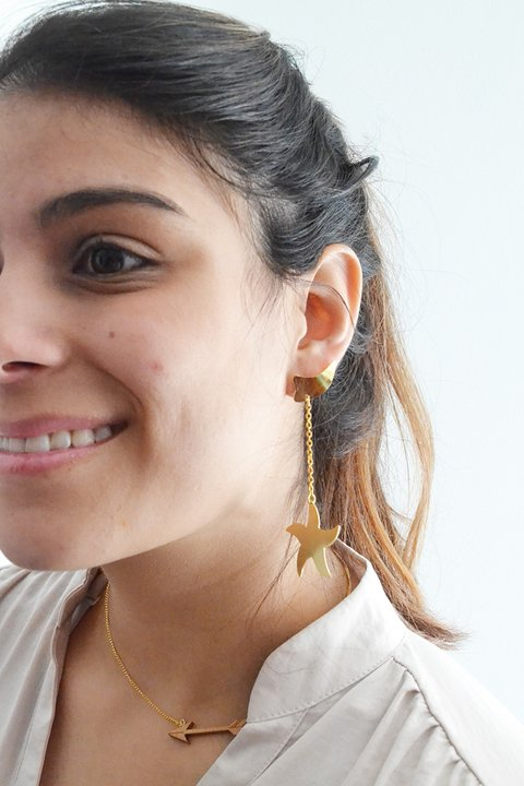 Earrings Shooting star - María Angulo Joyería