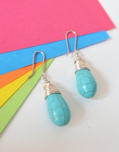 Earrings turquoise - Carolina Zavala - buy online