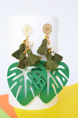 Earrings Leaf - Remembranza - Currucutú|Accesorios latinoamericanos hechos a mano